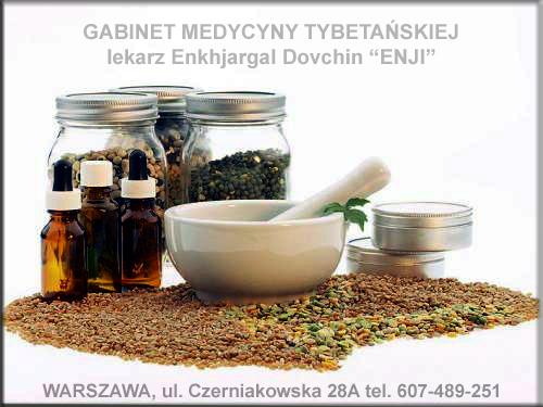 Gabinet Medycyny Tybetańskiej, naturalna medycyna, Enji, Enkhjargal Davchin, Dovchin, ul. Czerniakowska 28A Warszawa